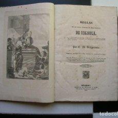 Libros antiguos: REGLAS DE LOS CINCO ORDENES DE ARQUITECTURA DE VIGNOLA.POR C.M.DELAGARDETTE.SEGUNDA EDICIÓN.1843. Lote 90362092