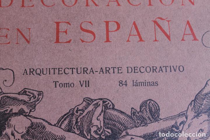Libros antiguos: ARTE Y DECORACION ES ESPAÑA, ARQUITECTURA ARTE DECORATIVO, TOMO VII, CASELLAS MONCANUT EDITOR - Foto 3 - 207683996