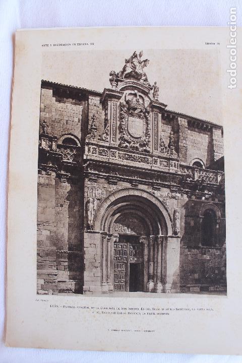Libros antiguos: ARTE Y DECORACION ES ESPAÑA, ARQUITECTURA ARTE DECORATIVO, TOMO VII, CASELLAS MONCANUT EDITOR - Foto 8 - 207683996
