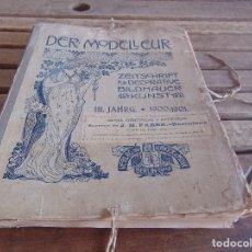 Libros antiguos: LIBRO CARPETA CON 82 LAMINAS DETALLES CONSTRUCTIVOS ALEMANES AÑOS 1900 1901 DER MODELLEUR JAHRGANG. Lote 93713550