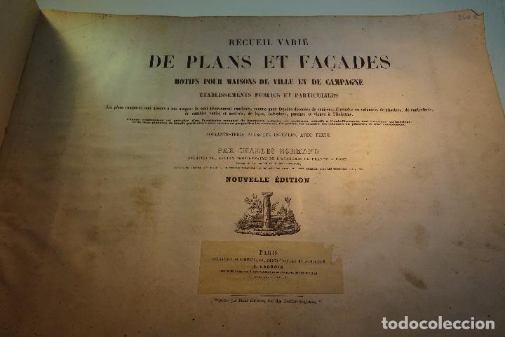 Libros antiguos: RECUEIL VARIÉ DE PLANS ET FAÇADES - MOTIFS POUR MAISONS DE VILLE ET DE CAMPAGNE - PARIS - 1817 - - Foto 2 - 94436838
