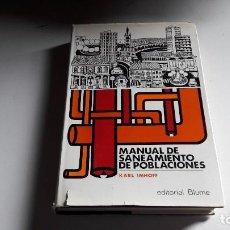 Libros antiguos: MANUAL DE SANEAMIENTOS DE POBLACIONES... 1969... Lote 94577831