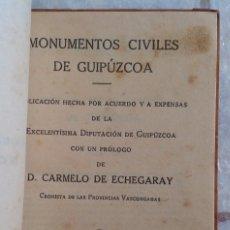 Libros antiguos: 1921 GUIPUZCOA ARQUITECTURA RELIGIOSA Y CIVIL EN 2 VOLUMENES * 105 FOTOGRAFÍAS A TODA PAGINA. Lote 95402643