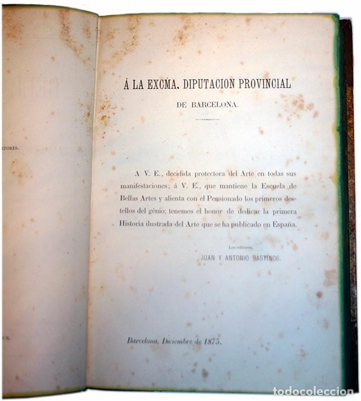 Libros antiguos: Libro Las Bellas Artes. Historia de la Arquitectura, La Escultura y la Pintura. José de Manjarrés - Foto 6 - 97465919