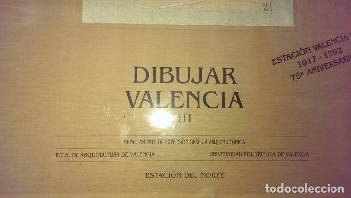 Libros antiguos: Libro arquitectura dibujar Valencia Estacion del Norte 75 aniversario año 1992 - Foto 2 - 101714375
