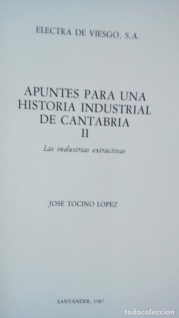 Libros antiguos: Apunte para una historia industrial en Cantabria - Foto 3 - 101762899