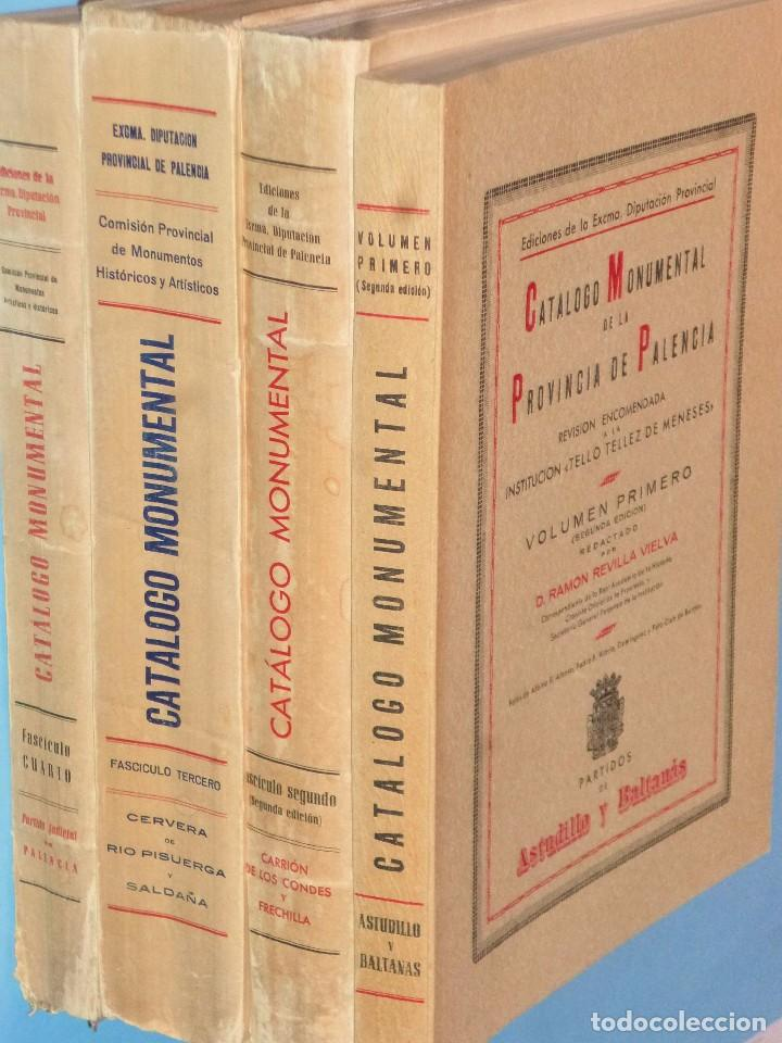 CATÁLOGO MONUMENTAL DE LA PROVINCIA DE PALENCIA (OBRA COMPLETA EN 4 TOMOS) (Libros Antiguos, Raros y Curiosos - Bellas artes, ocio y coleccion - Arquitectura)