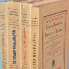 Libros antiguos: CATÁLOGO MONUMENTAL DE LA PROVINCIA DE PALENCIA (OBRA COMPLETA EN 4 TOMOS). Lote 102118959