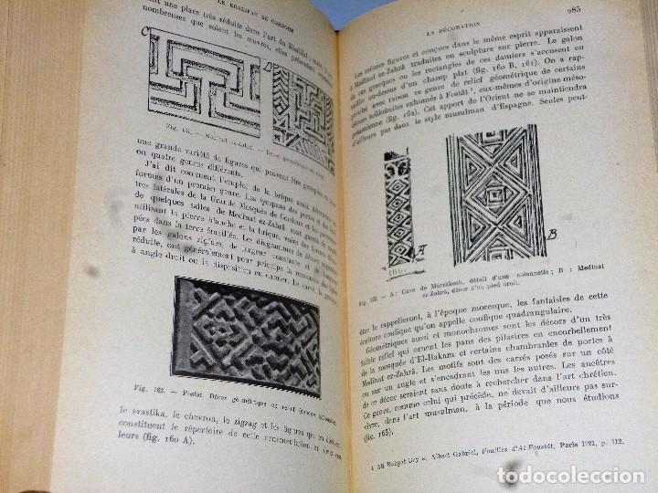 Libros antiguos: MANUEL D´ART MUSULMAN.TOME I.- L´ARCHITECTURE DU IX AU XII SIÈCLE - Foto 5 - 103132507