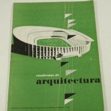 Libros antiguos: CUADERNOS DE ARQUITECTURA, COLEGIO DE ARQUITECTOS DE BARCELONA Y BALEARES, N. 21, 1955. 25X33CM. Lote 107002427