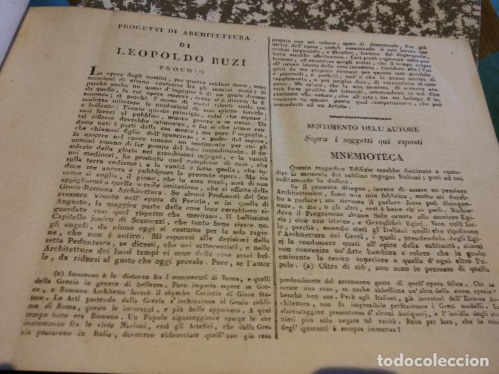 HOS. PROGETTI DI ARCHITETTURA DI LEOPOLDO BUZI. ROMA 1816. NELLA STAMPERIA DE ROMANIS, DE COLECCION (Libros Antiguos, Raros y Curiosos - Bellas artes, ocio y coleccion - Arquitectura)