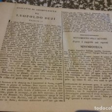 Libros antiguos: HOS. PROGETTI DI ARCHITETTURA DI LEOPOLDO BUZI. ROMA 1816. NELLA STAMPERIA DE ROMANIS, DE COLECCION. Lote 107263103