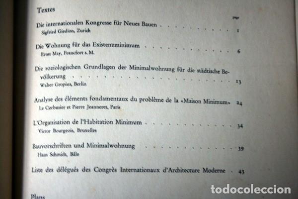 Libros antiguos: L'HABITATION MINIMUM - Le Corbusier / Bourgeois / Giedion / Gropius - 1933 - Foto 2 - 107648107