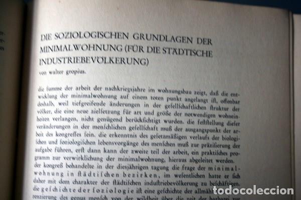 Libros antiguos: L'HABITATION MINIMUM - Le Corbusier / Bourgeois / Giedion / Gropius - 1933 - Foto 4 - 107648107