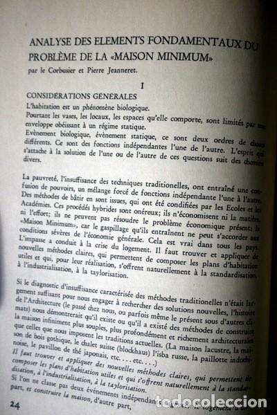 Libros antiguos: L'HABITATION MINIMUM - Le Corbusier / Bourgeois / Giedion / Gropius - 1933 - Foto 6 - 107648107