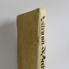 Libros antiguos: VITRUVIO. DE ARCHITECTURA LIBRI DECEM, CUM COMMENTARIIS DANIELIS BARBARI... MULTIS AEDIFICIORUM,.... Lote 109024368
