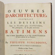 Libros antiguos: OEUVRES D'ARCHITECTURE, CONTENANT LES DESSEINS TANT EN PLANS QU'EN ELEVATIONS, DES PRINCIPAUX, & DES. Lote 109023447