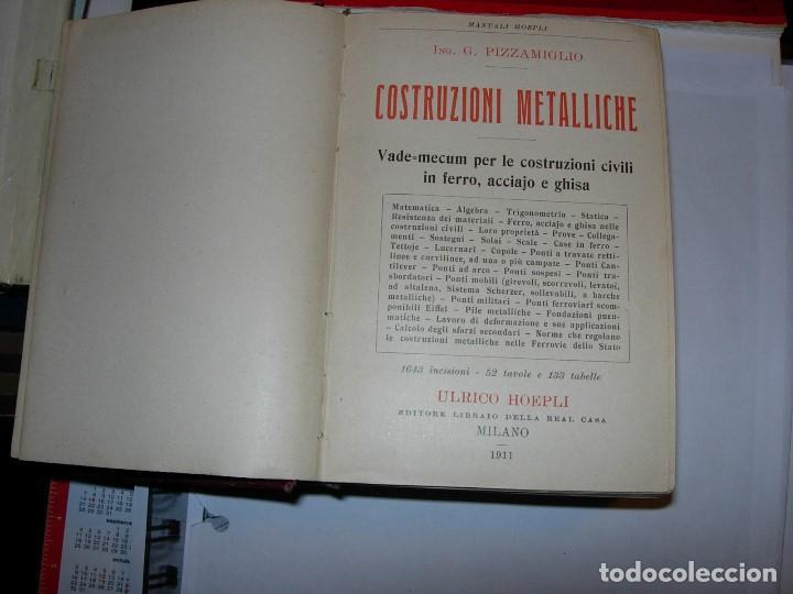 Libros antiguos: CONSTRUZONI METALLICHE por G. Pizzamaglio. VADEMECUM - Foto 2 - 111280535
