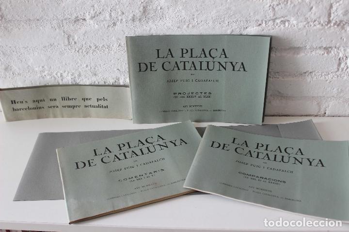 Libros antiguos: Plaça de Catalunya. Josep Puig i Cadafalch Projectes. Llibreria Catalonia 1927 modernisme modernismo - Foto 3 - 142729009