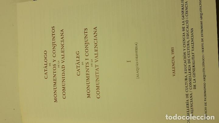 Libros antiguos: CATALOGO DE MONUMENTOS Y CONJUNTOS DE LA COMUNIDAD VALENCIANA - Foto 3 - 113232491