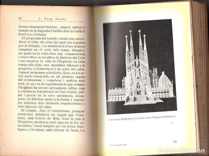 Libros antiguos: PUIG BOADA : EL TEMPLE DE LA SAGRADA FAMÍLIA (BARCINO, 1929) CON LÁMINAS Y PLANOS - Foto 2 - 114102555