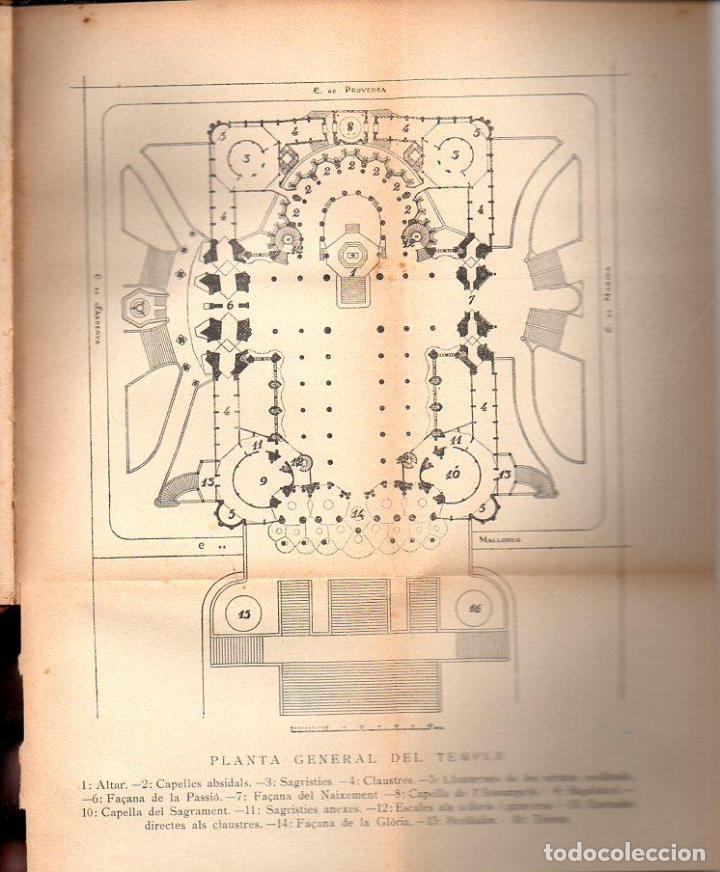 Libros antiguos: PUIG BOADA : EL TEMPLE DE LA SAGRADA FAMÍLIA (BARCINO, 1929) CON LÁMINAS Y PLANOS - Foto 4 - 114102555