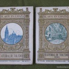 Libros antiguos: LOTE DE DOS LIBROS ANTIGUOS DE LA CATEDRAL DE TOLEDO. ARQUITECTURA Y MUSEO.. Lote 114198527