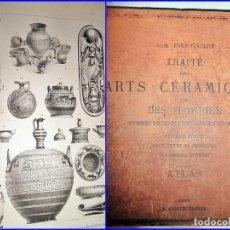 Libros antiguos: 1877: TRAITÉ DES ARTS CÉRAMIQUES. ATENCIÓN A LAS ILUSTRACIONES. 32 X 25 CM.. Lote 115554567