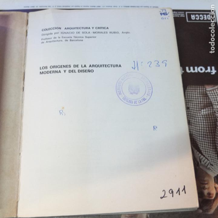 Libros antiguos: Los orígenes de la arquitectura moderna y del diseño / Nikolaus Pevsner-gg - Foto 2 - 116131179