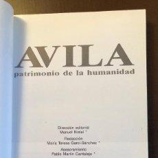 Libros antiguos: AVILA PATRIMONIO DE LA HUMANIDAD(18€). Lote 116214419
