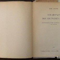 Libros antiguos: DIE GESTALT DER DEUTSCHEN STADT-GRUBER(28€). Lote 116487207