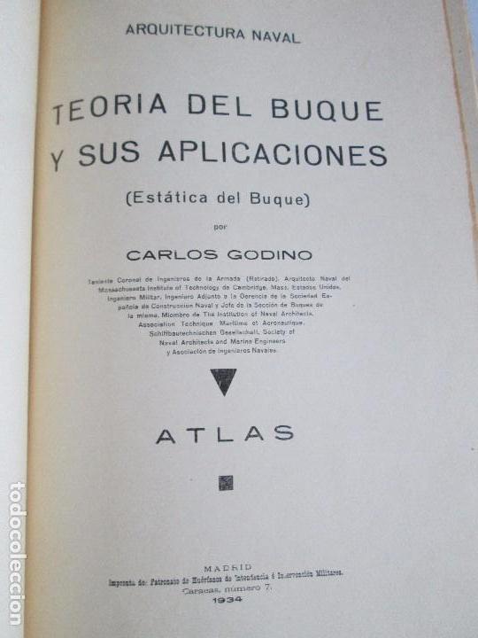 Libros antiguos: CARLOS GODINO. ARQUITECTURA NAVAL. TEORIA DEL BUQUE Y SUS APLICACIONES. ATLAS 1934 - Foto 8 - 118150447