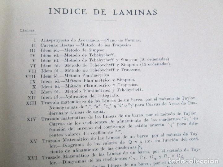 Libros antiguos: CARLOS GODINO. ARQUITECTURA NAVAL. TEORIA DEL BUQUE Y SUS APLICACIONES. ATLAS 1934 - Foto 21 - 118150447