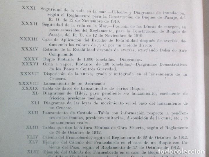 Libros antiguos: CARLOS GODINO. ARQUITECTURA NAVAL. TEORIA DEL BUQUE Y SUS APLICACIONES. ATLAS 1934 - Foto 23 - 118150447