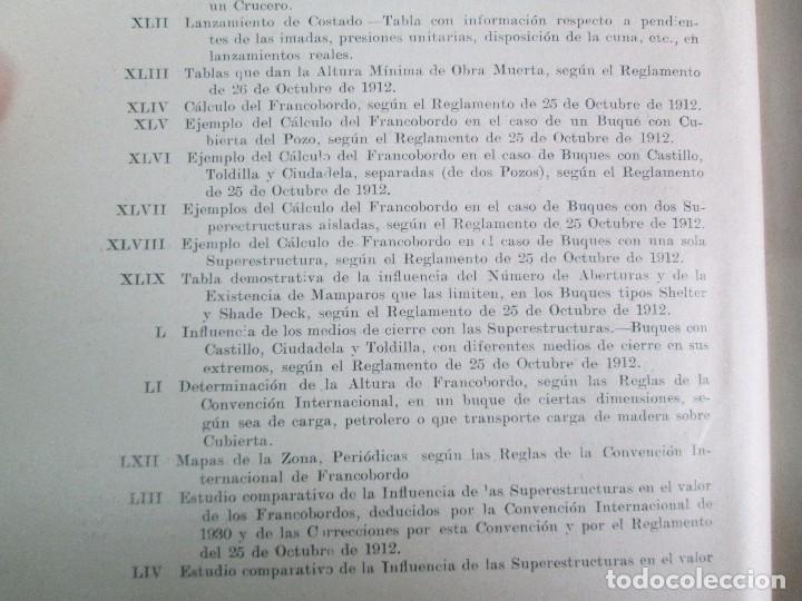 Libros antiguos: CARLOS GODINO. ARQUITECTURA NAVAL. TEORIA DEL BUQUE Y SUS APLICACIONES. ATLAS 1934 - Foto 24 - 118150447