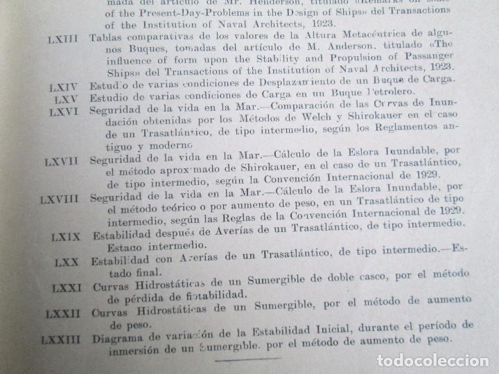 Libros antiguos: CARLOS GODINO. ARQUITECTURA NAVAL. TEORIA DEL BUQUE Y SUS APLICACIONES. ATLAS 1934 - Foto 26 - 118150447