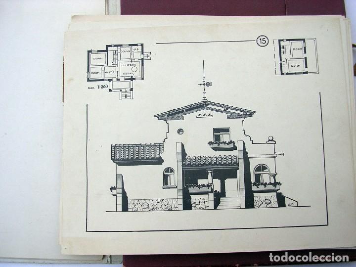 Libros antiguos: LIBRO R. VECILLA BAHILLO. PROYECTOS CONSTRUCCIÓN EDIFICIOS VILLA. SÉRIE B 100 MODELOS ULTRAMODERNOS. - Foto 3 - 118275447