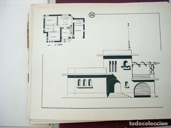 Libros antiguos: LIBRO R. VECILLA BAHILLO. PROYECTOS CONSTRUCCIÓN EDIFICIOS VILLA. SÉRIE B 100 MODELOS ULTRAMODERNOS. - Foto 4 - 118275447