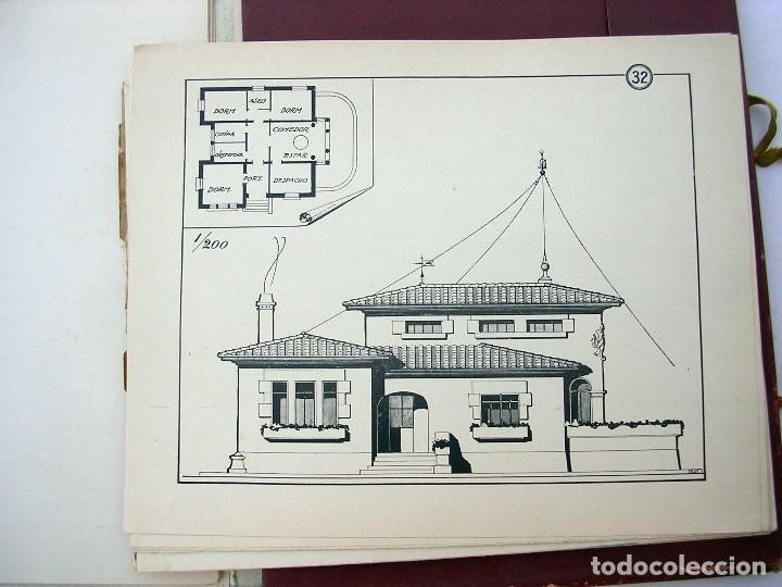 Libros antiguos: LIBRO R. VECILLA BAHILLO. PROYECTOS CONSTRUCCIÓN EDIFICIOS VILLA. SÉRIE B 100 MODELOS ULTRAMODERNOS. - Foto 5 - 118275447