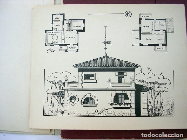 Libros antiguos: LIBRO R. VECILLA BAHILLO. PROYECTOS CONSTRUCCIÓN EDIFICIOS VILLA. SÉRIE B 100 MODELOS ULTRAMODERNOS. - Foto 6 - 118275447