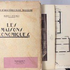 Libros antiguos: ALBERT BERNET : LES MAISONS ÉCONOMIQUES (CASAS ECONÓMICAS. 1929 LÁMINAS PLANOS. Lote 120917667