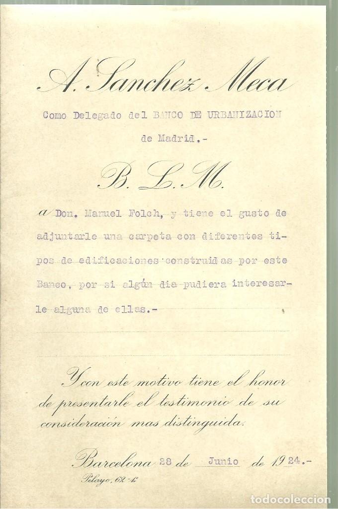Libros antiguos: 963.- ARQUITECTURA-CATALOGO DE EDIFICACIONES DEL BANCO DE URBANIZACION DE MADRID - Foto 4 - 122123207