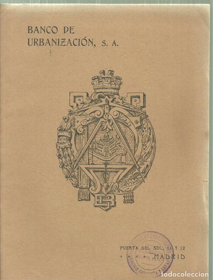 Libros antiguos: 963.- ARQUITECTURA-CATALOGO DE EDIFICACIONES DEL BANCO DE URBANIZACION DE MADRID - Foto 5 - 122123207