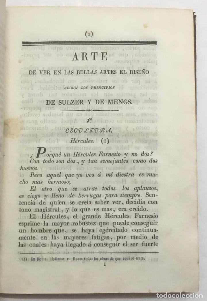 Libros antiguos: ARTE DE SABER VER LAS BELLAS ARTES DEL DISEÑO. Traducido por Ignacio March y aumentado con un tratad - Foto 3 - 123218518