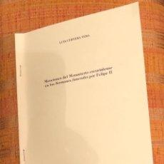 Libros antiguos: MENCIONES DEL MONASTERIO ESCURIALENSE EN LOS SERMONES FUNERALES POR FELIPE II-LCV-(13€). Lote 126169407