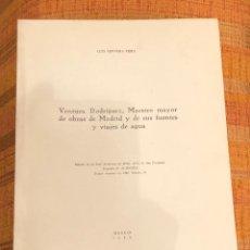 Libros antiguos: VENTURA RODRÍGUEZ, MAESTRO MAYOR DE OBRAS DE MADRID Y DE SUS FUENTES Y VIAJES DE AGUA-LCV-(13€). Lote 126169427