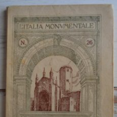 Libros antiguos: LE CHIESE MEDIEVALI DI PIACENZA - L'ITALIA MONUMENTALE. Nº 26. ED. IDEA. ILUSTRADO.. Lote 127670463