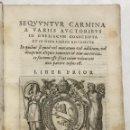 Libros antiguos: SEQUUNTUR CARMINA A VARIIS AUCTORIBUS IN OBELISCUM CONSCRIPTA ET IN DUOS LIBROS DISTRIBU.. ROMA,1587. Lote 127831119