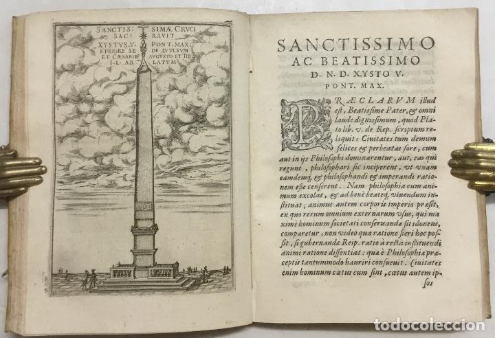 Libros antiguos: SEQUUNTUR CARMINA A VARIIS AUCTORIBUS IN OBELISCUM CONSCRIPTA ET IN DUOS LIBROS DISTRIBU.. ROMA,1587 - Foto 3 - 127831119