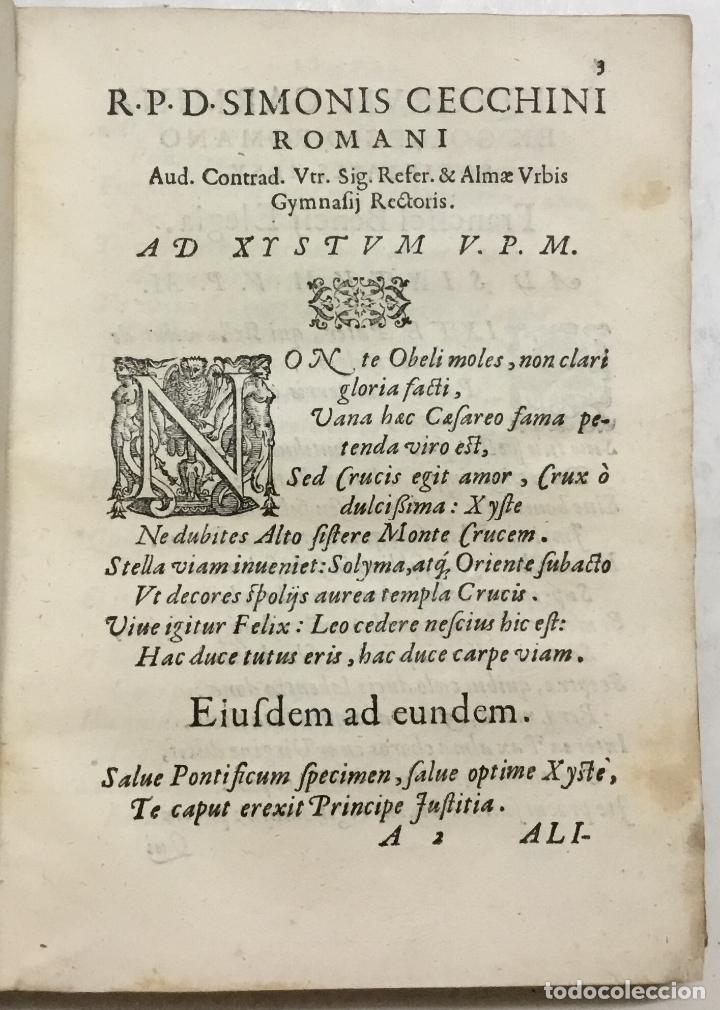 Libros antiguos: SEQUUNTUR CARMINA A VARIIS AUCTORIBUS IN OBELISCUM CONSCRIPTA ET IN DUOS LIBROS DISTRIBU.. ROMA,1587 - Foto 4 - 127831119